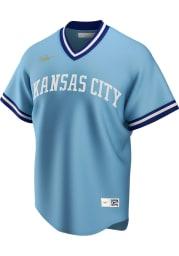 Kansas City Royals Nike Throwback Cooperstown Jersey - Light Blue