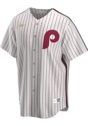 Philadelphia Phillies Nike Throwback Cooperstown Jersey - White