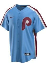 Philadelphia Phillies Mens Nike Replica 2020 Throwback Jersey - Light Blue