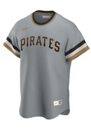 Pittsburgh Pirates Nike Throwback Cooperstown Jersey - Grey