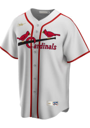 St Louis Cardinals Nike 42-44 Home Throwback Cooperstown Jersey - White