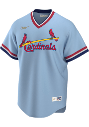 St Louis Cardinals Nike Throwback Cooperstown Jersey - Light Blue
