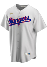 Texas Rangers Nike Throwback Cooperstown Jersey - White
