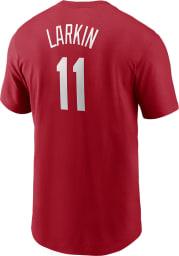 Barry Larkin Cincinnati Reds Red Name And Number Short Sleeve Player T Shirt