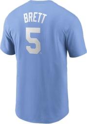 George Brett Kansas City Royals Light Blue Name And Number Short Sleeve Player T Shirt
