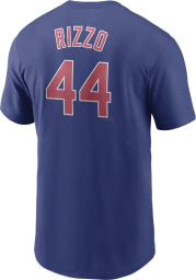 Anthony Rizzo Chicago Cubs Blue Name And Number Short Sleeve Player T Shirt