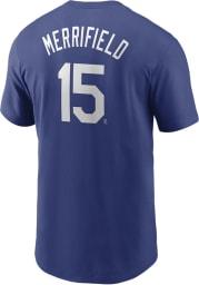 Whit Merrifield Kansas City Royals Blue Name And Number Short Sleeve Player T Shirt