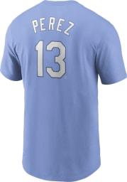 Salvador Perez Kansas City Royals Light Blue Name And Number Short Sleeve Player T Shirt