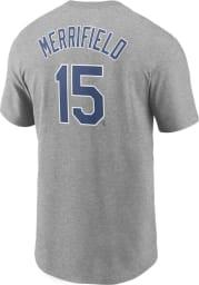 Whit Merrifield Kansas City Royals Grey Name And Number Short Sleeve Player T Shirt