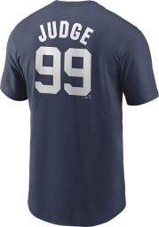 Aaron Judge New York Yankees Navy Blue Name And Number Short Sleeve Player T Shirt