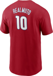 JT Realmuto Philadelphia Phillies Red Name And Number Short Sleeve Player T Shirt