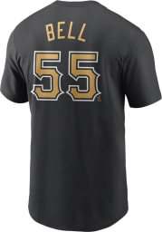 Josh Bell Pittsburgh Pirates Black Name And Number Short Sleeve Player T Shirt