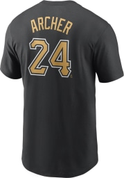 Chris Archer Pittsburgh Pirates Black Name And Number Short Sleeve Player T Shirt