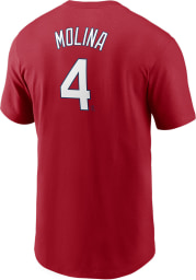 Yadier Molina St Louis Cardinals Red Name And Number Short Sleeve Player T Shirt