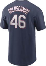 Paul Goldschmidt St Louis Cardinals Navy Blue Name And Number Short Sleeve Player T Shirt