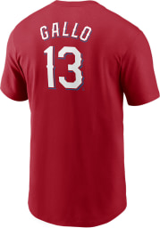 Joey Gallo Texas Rangers Red Name And Number Short Sleeve Player T Shirt