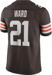 Denzel Ward Nike Cleveland Browns Mens Brown Home Limited Football Jersey