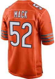 Khalil Mack Nike Chicago Bears Orange Alternate Game Football Jersey