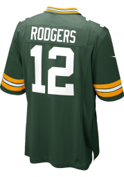 Aaron Rodgers Nike Green Bay Packers Green Home Game Football Jersey