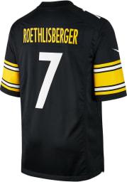 Ben Roethlisberger Nike Pittsburgh Steelers Black Home Game Football Jersey