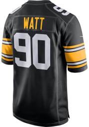 TJ Watt Nike Pittsburgh Steelers Black Alternate Game Football Jersey