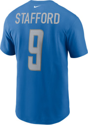 Matthew Stafford Detroit Lions Blue Primetime Short Sleeve Player T Shirt