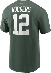Aaron Rodgers Green Bay Packers Green Primetime Short Sleeve Player T Shirt