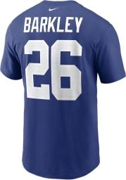 Saquon Barkley New York Giants Blue Primetime Short Sleeve Player T Shirt
