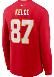 Travis Kelce Kansas City Chiefs Red Primetime Long Sleeve Player T Shirt