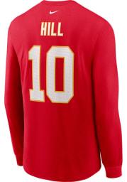 Tyreek Hill Kansas City Chiefs Red Primetime Long Sleeve Player T Shirt