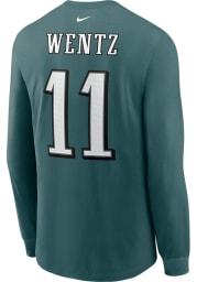 Carson Wentz # Philadelphia Eagles Midnight Green Nike Primetime Long Sleeve T Shirt