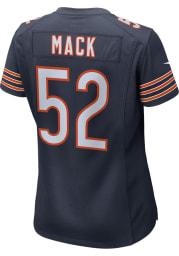 Khalil Mack Nike Chicago Bears Womens Navy Blue Home Game Football Jersey
