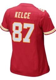 Travis Kelce Nike Kansas City Chiefs Womens Red Home Game Football Jersey