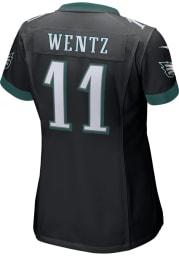 Carson Wentz Nike Philadelphia Eagles Womens Black Road Game Football Jersey