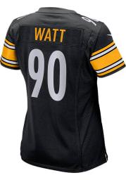 TJ Watt Nike Pittsburgh Steelers Womens Black Home Game Football Jersey