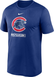 Nike Chicago Cubs Blue AC 2020 Postseason Short Sleeve T Shirt