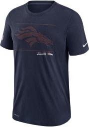 Nike Denver Broncos Navy Blue DFCT Team Issue Short Sleeve T Shirt