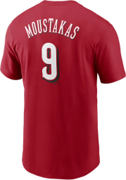 Mike Moustakas Cincinnati Reds Red Name And Number Short Sleeve Player T Shirt