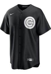 Chicago Cubs Mens Nike Replica Fashion Replica Jersey - Black