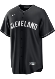 Cleveland Indians Mens Nike Replica Fashion Replica Jersey - Black