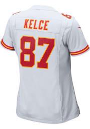 Travis Kelce Nike Kansas City Chiefs Womens White Road Game Football Jersey