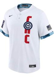 Chicago Cubs Mens Nike Replica All-Star Replica Jersey - White