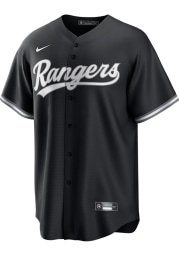 Texas Rangers Mens Nike Replica Fashion Replica Jersey - Black