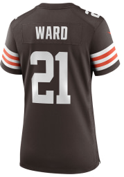 Denzel Ward Nike Cleveland Browns Womens Brown Home Game Football Jersey