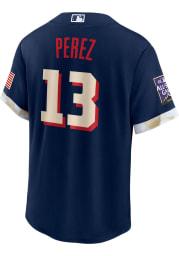 Salvador Perez Kansas City Royals Mens Replica All-Star Replica Jersey - Navy Blue