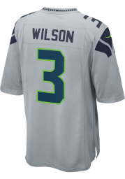 Russell Wilson Nike Seattle Seahawks Grey Alternate Game Football Jersey