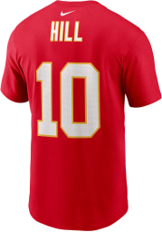 Tyreek Hill Kansas City Chiefs Red Super Bowl LV Name and Number Short Sleeve Player T Shirt