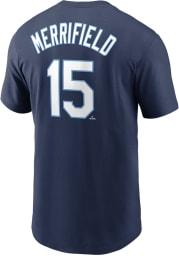 Whit Merrifield Kansas City Royals Navy Blue Name Number Short Sleeve Player T Shirt
