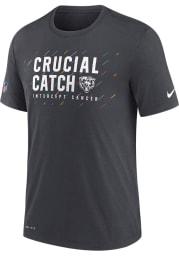 Nike Chicago Bears Grey CRUCIAL CATCH Short Sleeve T Shirt