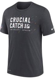 Nike Cincinnati Bengals Grey CRUCIAL CATCH Short Sleeve T Shirt